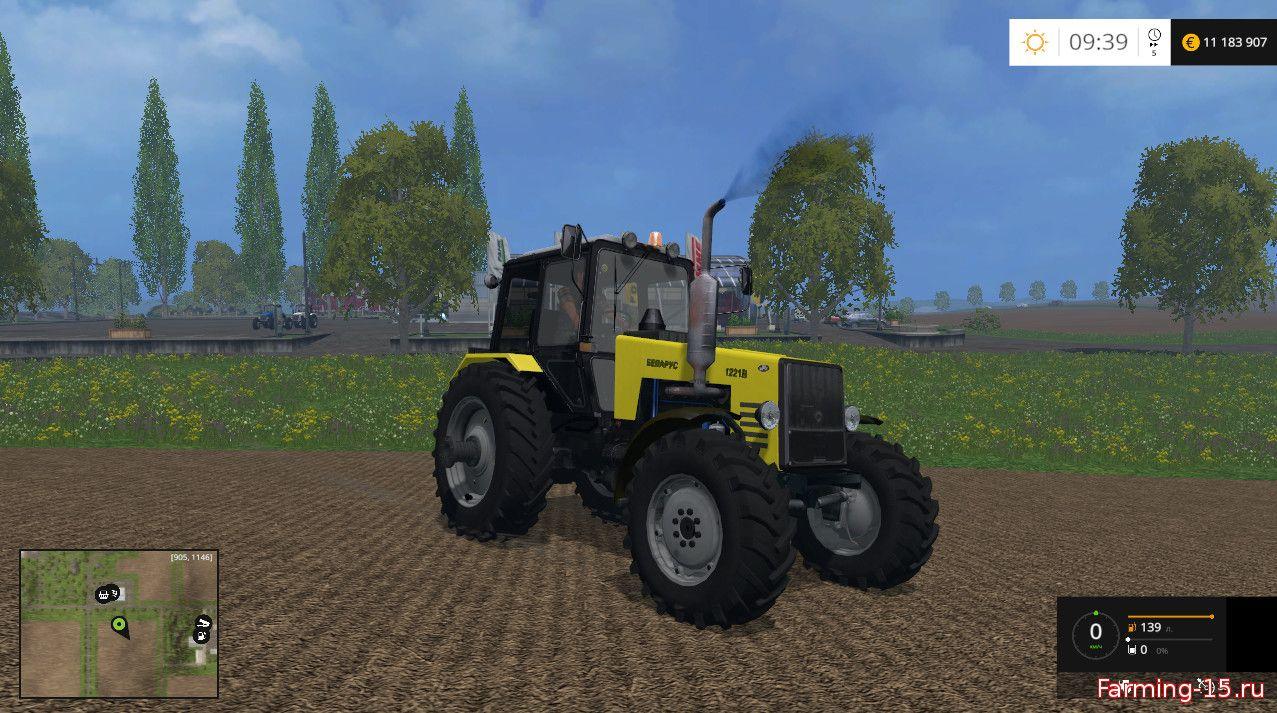 Русская техника для Мод трактор МТЗ 1221В (Беларус) для Farming Simulator 2015