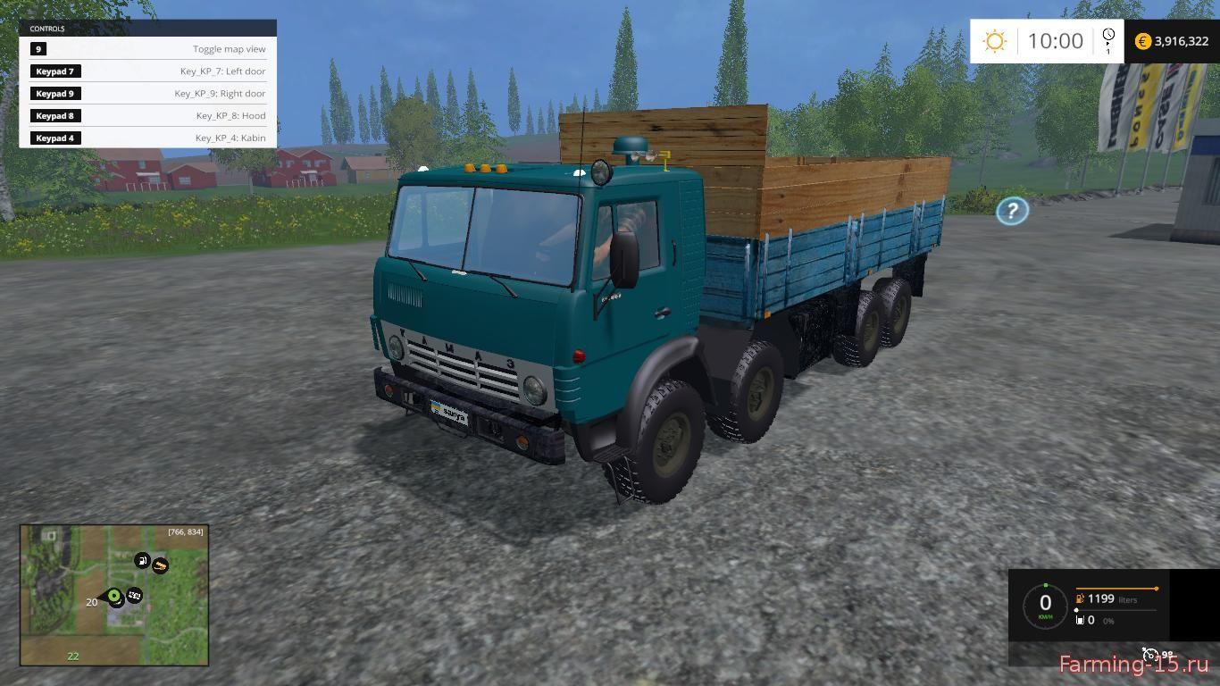 Русская техника для Мод грузовик КамАЗ 6350 для Farming Simulator 2015