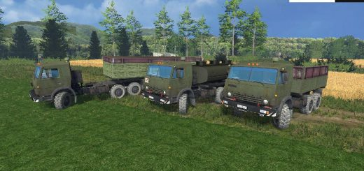 Русская техника для Мод-пак грузовик КамАЗ 43114 и модули V1.0 для Farming Simulator 2015