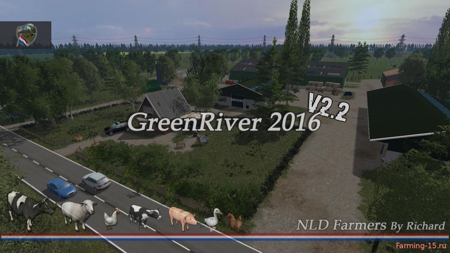 Карты для Карта Green River 2016 v2.2 для Farming Simulator 2015