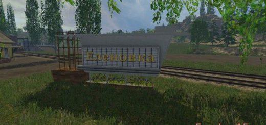 Русские карты для Русская карта Еленовка v3.2 для Farming Simulator 2015