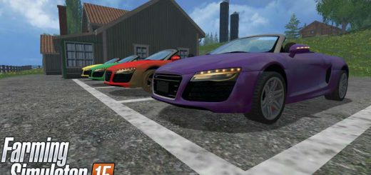 Машины для Мод машина Audi R8 Spyder v1.1 для Farming Simulator 2015