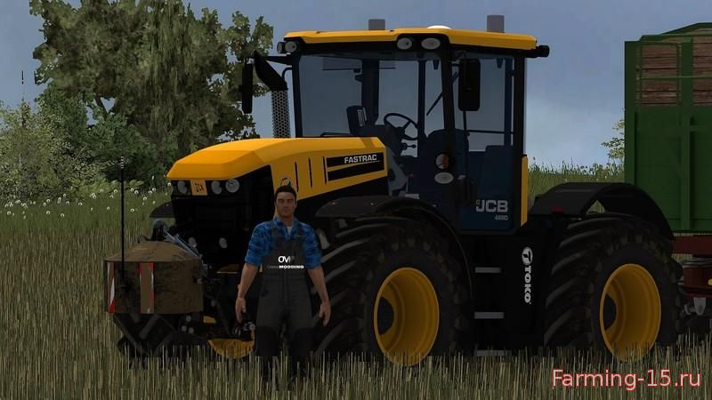 Тракторы для Мод трактор «JCB 4220 v1.0» для Farming Simulator 2015