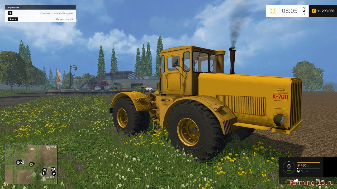 Русская техника для Мод трактор Кировец K700 для Farming Simulator 2015