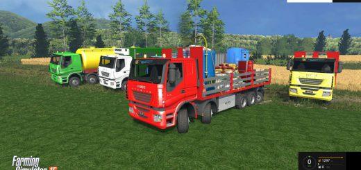 Грузовики для Мод грузовик Iveco Clixtar v1.1 и модули для Farming Simulator 2015