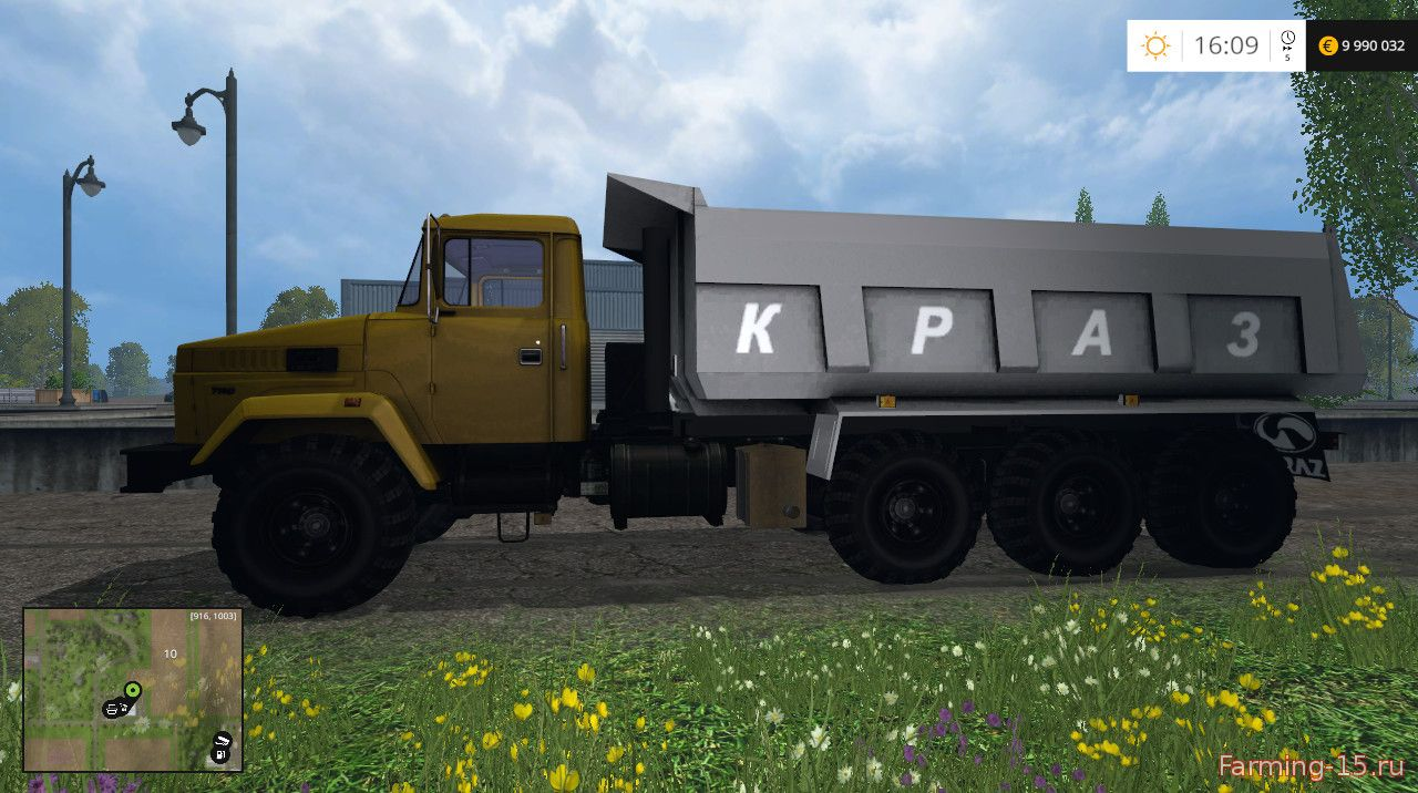 Русская техника для Мод грузовик КрАЗ 7140С6 для Farming Simulator 2015