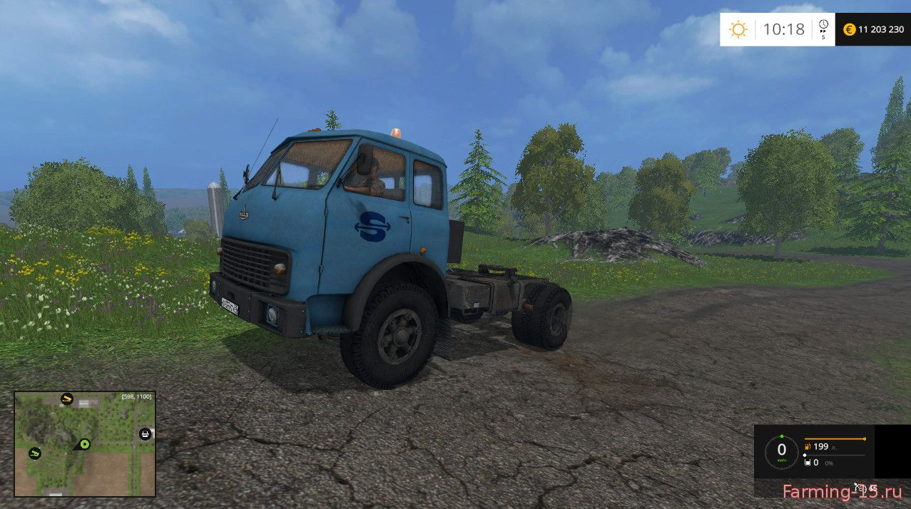 Русская техника для Мод тягач МАЗ-509 для Farming Simulator 2015