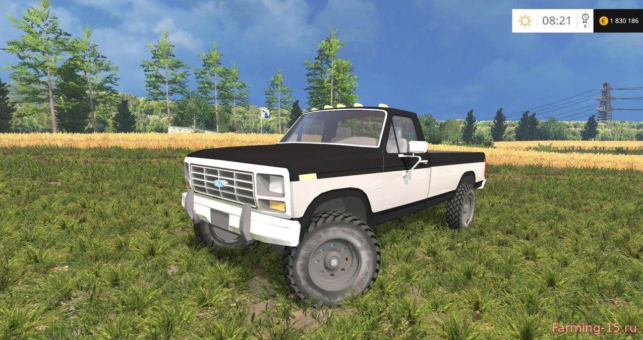 Машины для Мод машина Ford F250XLT 1985 Diesel 4x4 v1.0 для Farming Simulator 2015