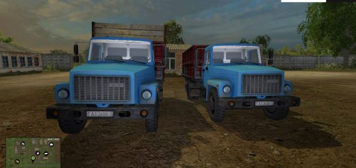 Русская техника для Мод грузовик ГАЗ САЗ 35071 для Farming Simulator 2015