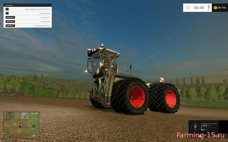 Тракторы для Мод трактор Claas Xerion 3800 SaddleTrac v3.0 для Farming Simulator 2015