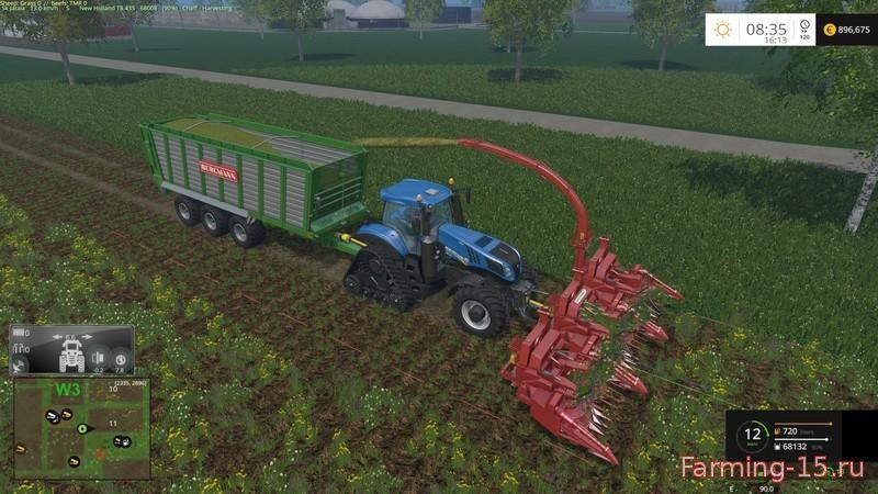 С/Х инвентарь для Мод навесной комбайн для Farming Simulator 2015