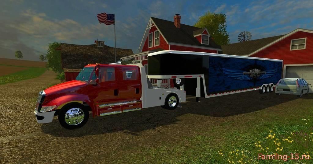 Прицепы для Мод  грузовик и трейлер для Farming Simulator 2015