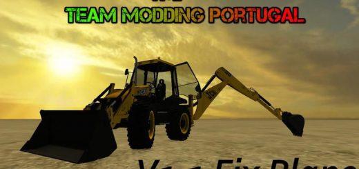 Погрузчики для Мод погрузчик JCB 4CX для Farming Simulator 2015