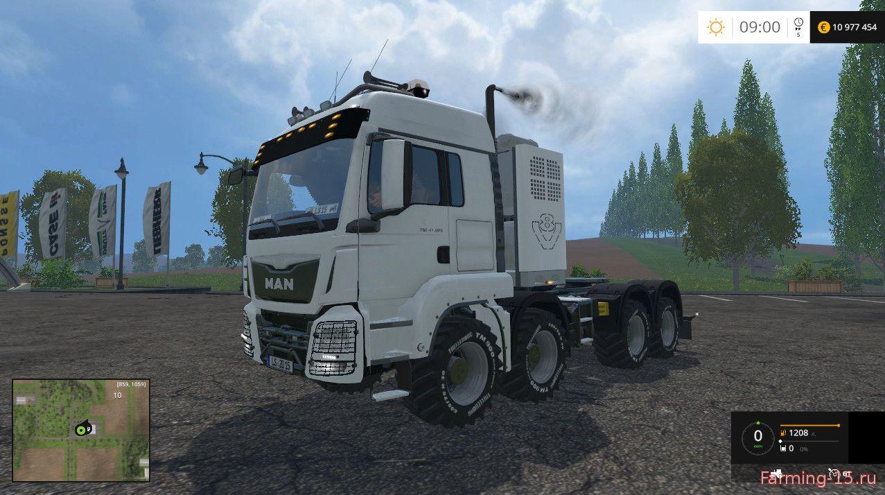 Грузовики для Мод тягач MAN TGS для Farming Simulator 2015