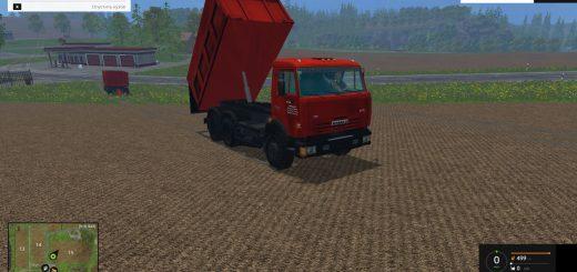 Русская техника для Мод грузовик КамАЗ 65115 и прицеп НефАЗ 8460 для Farming Simulator 2015