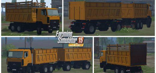 Русская техника для Мод грузовик МАЗ-6501 и прицеп для Farming Simulator 2015