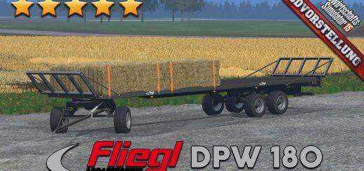 Прицепы для Мега – пак прицепов «Fliegl DPW 180» для Farming Simulator 2015