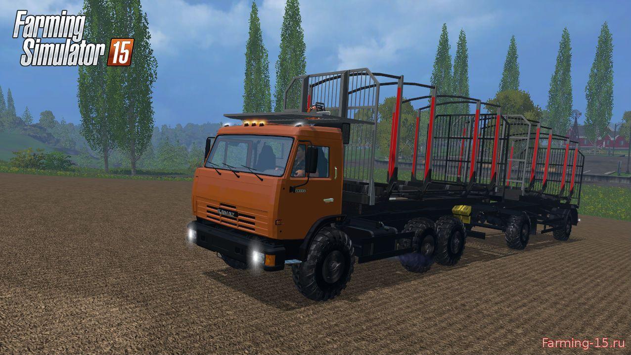 Русская техника для Мод грузовик-лесовоз КамАЗ Лесник для Farming Simulator 2015