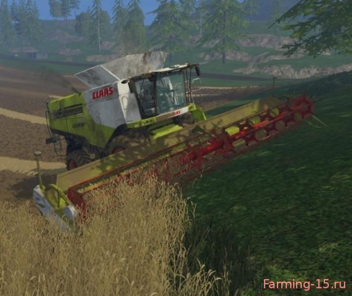 Комбайны для Мод комбайн Claas Lexion 780 для Farming Simulator 2015