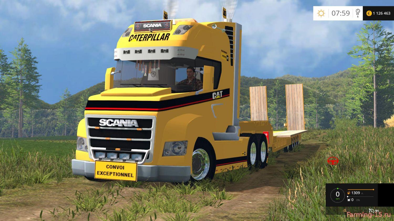 Грузовики для Мод грузовик Scania и платформа для Farming Simulator 2015