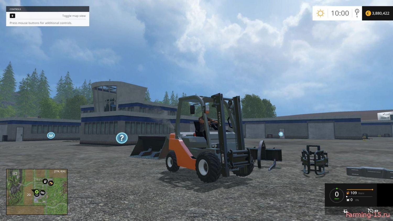 Погрузчики для Мод погрузчик Toyota Forklift для Farming Simulator 2015