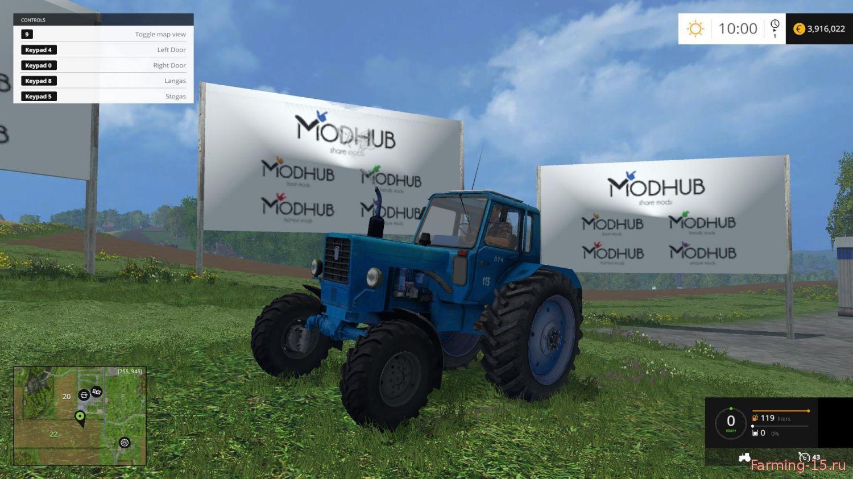 Русская техника для Мод трактор Беларус 892 МТЗ для Farming Simulator 2015