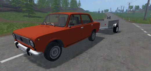Русская техника для Мод машина ВАЗ 2101 и прицеп v0.1 для Farming Simulator 2015