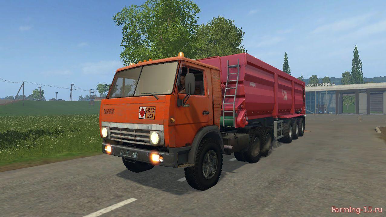 Русская техника для Мод тягач КамАЗ 5410 для Farming Simulator 2015