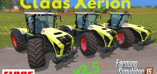Тракторы для Мод трактор CLAAS Xerion 4500 v2.5 для Farming Simulator 2015