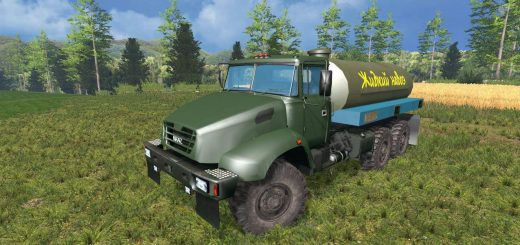 Русская техника для Мод грузовик КрАЗ v18.1 Manure для Farming Simulator 2015