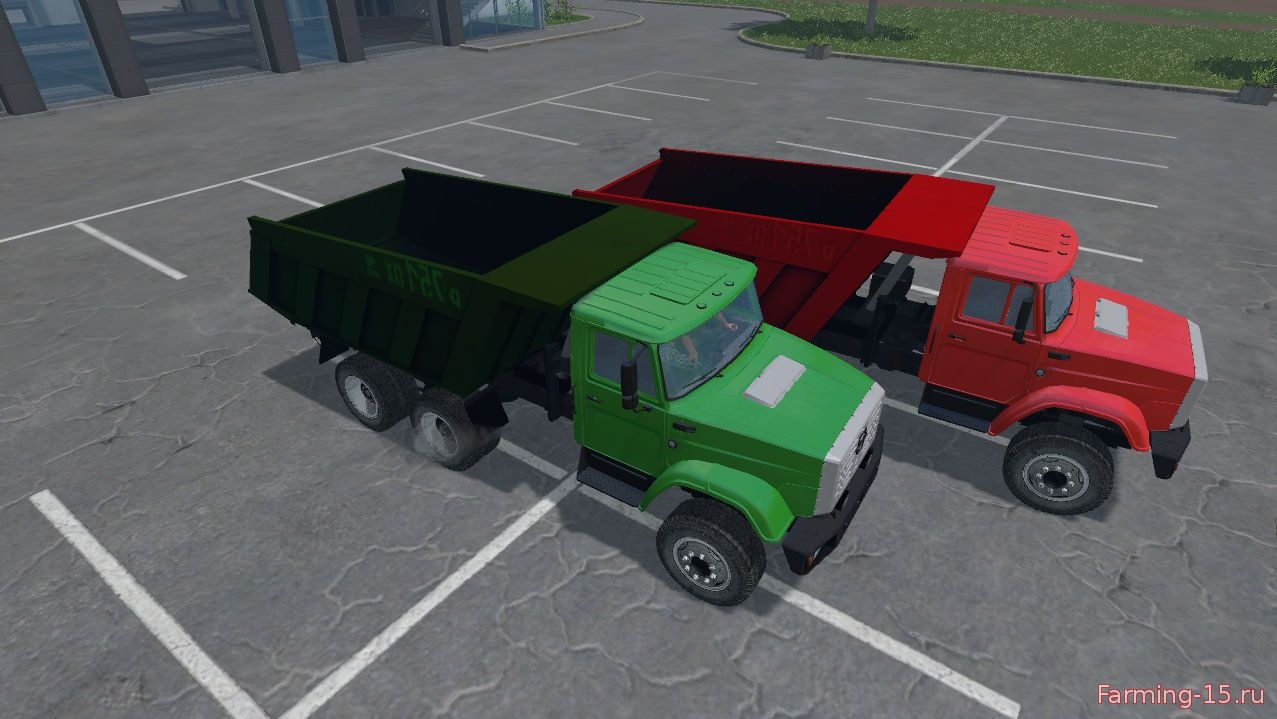 Русская техника для Мод грузовик ЗиЛ 4331 Совок v 3 для Farming Simulator 2015
