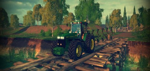 Тракторы для Мод трактор John Deere 8400 v1.5 для Farming Simulator 2015