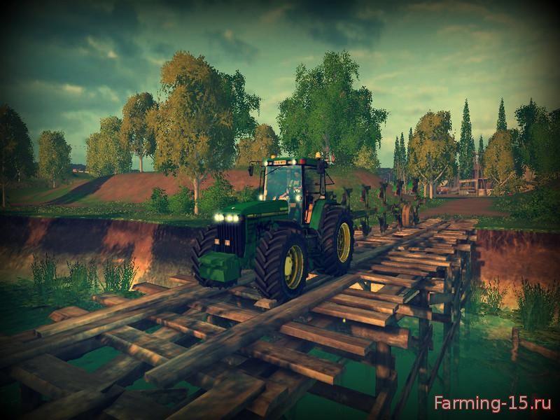 Тракторы для Мод трактор John Deere 8400 v1.5 для Farming Simulator 2015