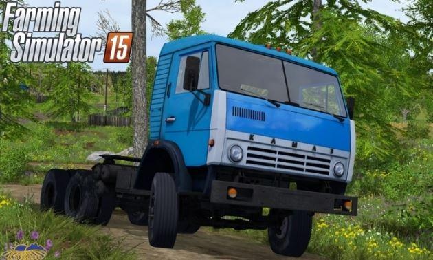 Русская техника для Мод тягач КамАЗ 5410 v 1.0 для Farming Simulator 2015