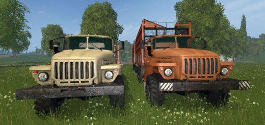 Русская техника для Мод грузовик Урал 5557 Сельхоз и прицеп для Farming Simulator 2015