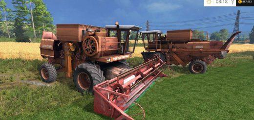 Русская техника для Мод комбайн Дон 1500 А4 для Farming Simulator 2015