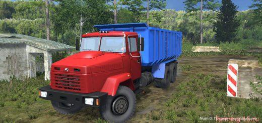 Русская техника для Мод грузовик КрАЗ 6130С4 Турбо для Farming Simulator 2015