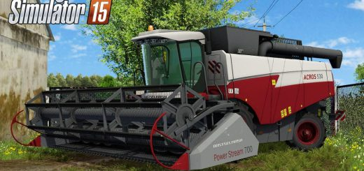 Русская техника для Мод комбайн Акрос 590 v1.2 для Farming Simulator 2015