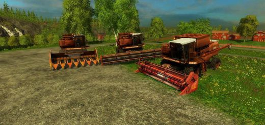 Русская техника для Мод комбайн Дон 1500А для Farming Simulator 2015