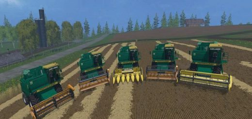 Русская техника для Мод комбайн Дон-1500Б v1.2 для Farming Simulator 2015