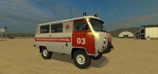 Русская техника для Мод машина УАЗ 2206 «Скорая Помощь» для Farming Simulator 2015