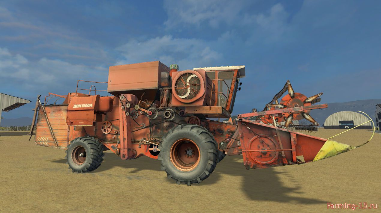 Русская техника для Мод комбайн Дон 1500 v1.0 для Farming Simulator 2015
