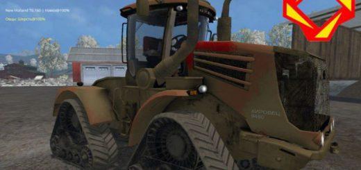 Русская техника для Мод гусеничный трактор Кировец К-9450 для Farming Simulator 2015