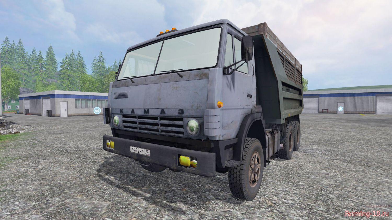 Русская техника для Мод грузовик КамАЗ-55111 v4.1 для Farming Simulator 2015