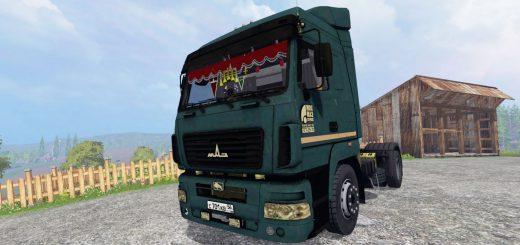 Русская техника для Мод грузовик МАЗ 5440 v1.2 для Farming Simulator 2015