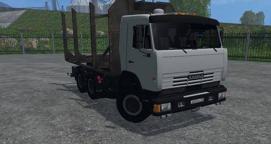 Русская техника для Мод грузовик КамАЗ 53212 с прицепом для Farming Simulator 2015