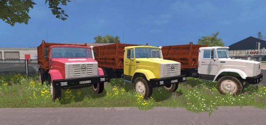 Русская техника для Мод грузовик ЗиЛ 4516 v2.0 для Farming Simulator 2015
