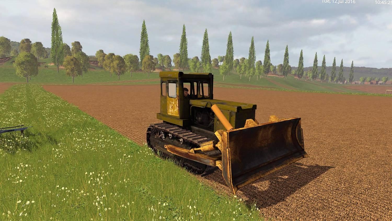 Русская техника для Мод гусеничный трактор Т-130 для Farming Simulator 2015