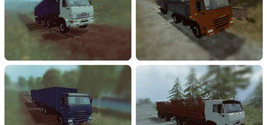 Русская техника для Мод-пак грузовиков «КамАЗ v 2.0» для Farming Simulator 2015