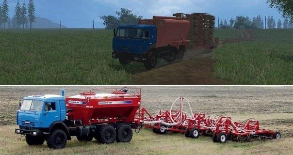 Сеялки для Мод «Посевной комплекс» для Farming Simulator 2015